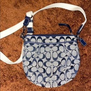 Navy COACH Crossbody purse
